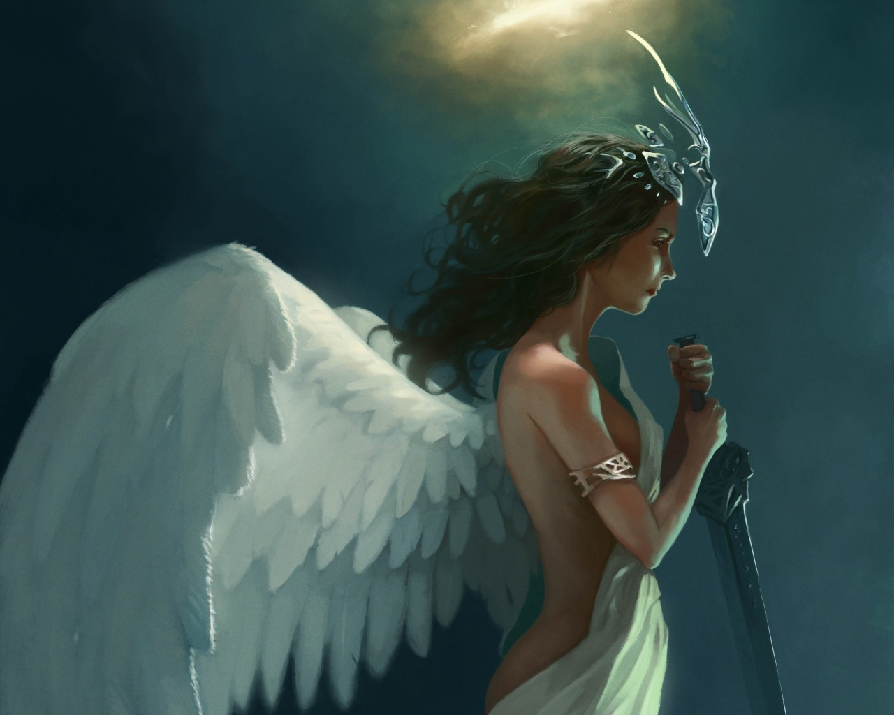 ange prete au combat