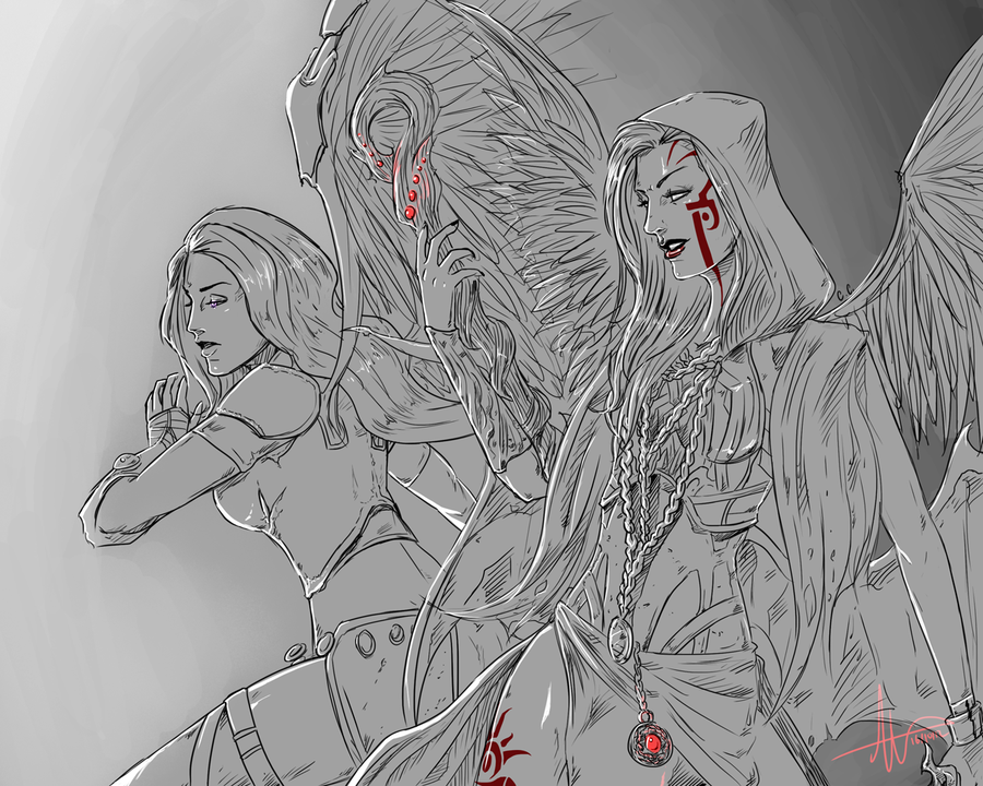 request__akroma_and_kaalia_by_sonellion